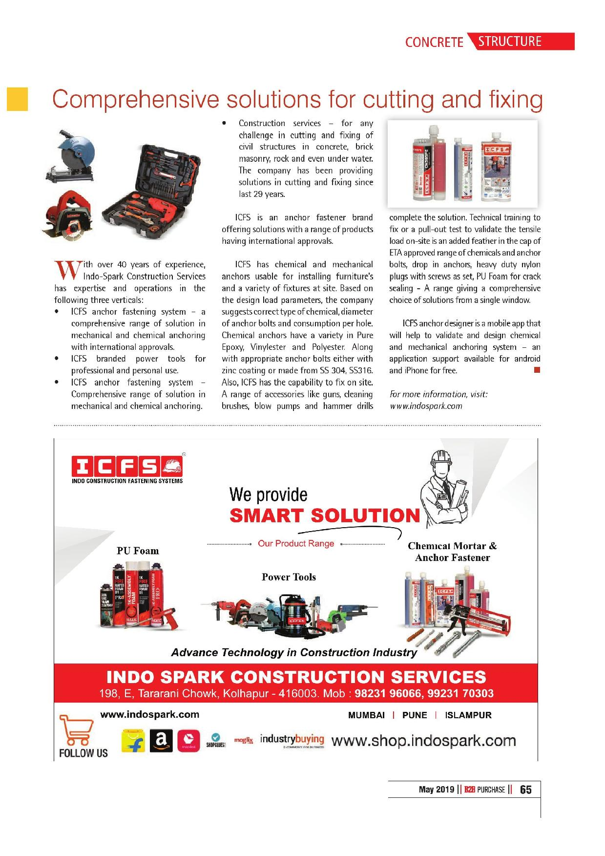 Comprehensive solutions for cutting & fixing