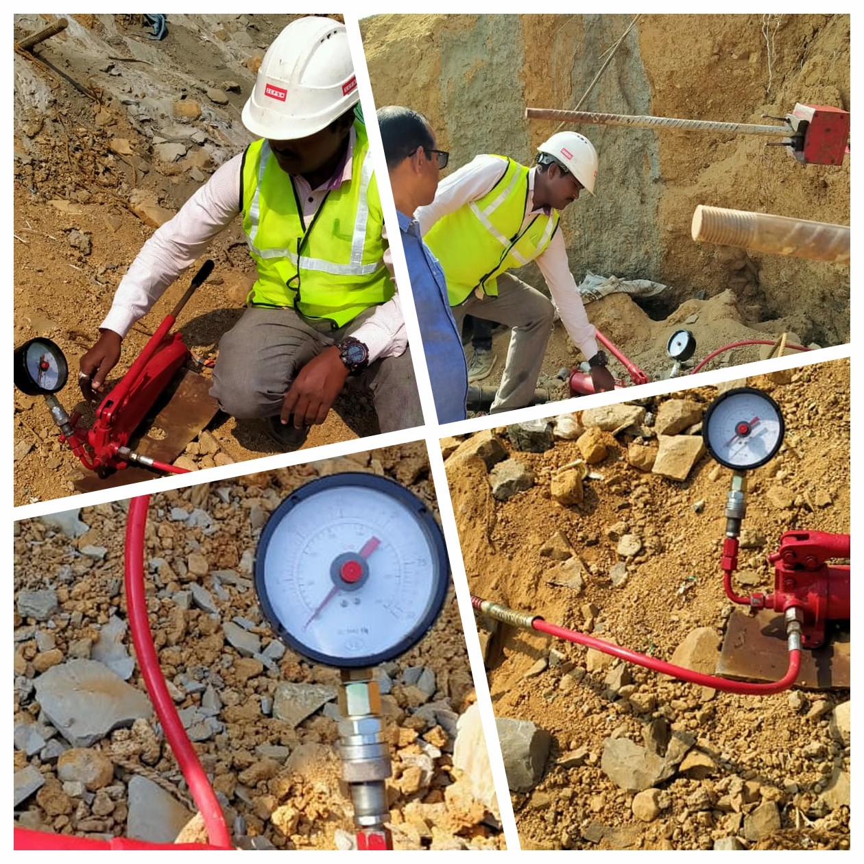 PULL OUT TEST AT SITE