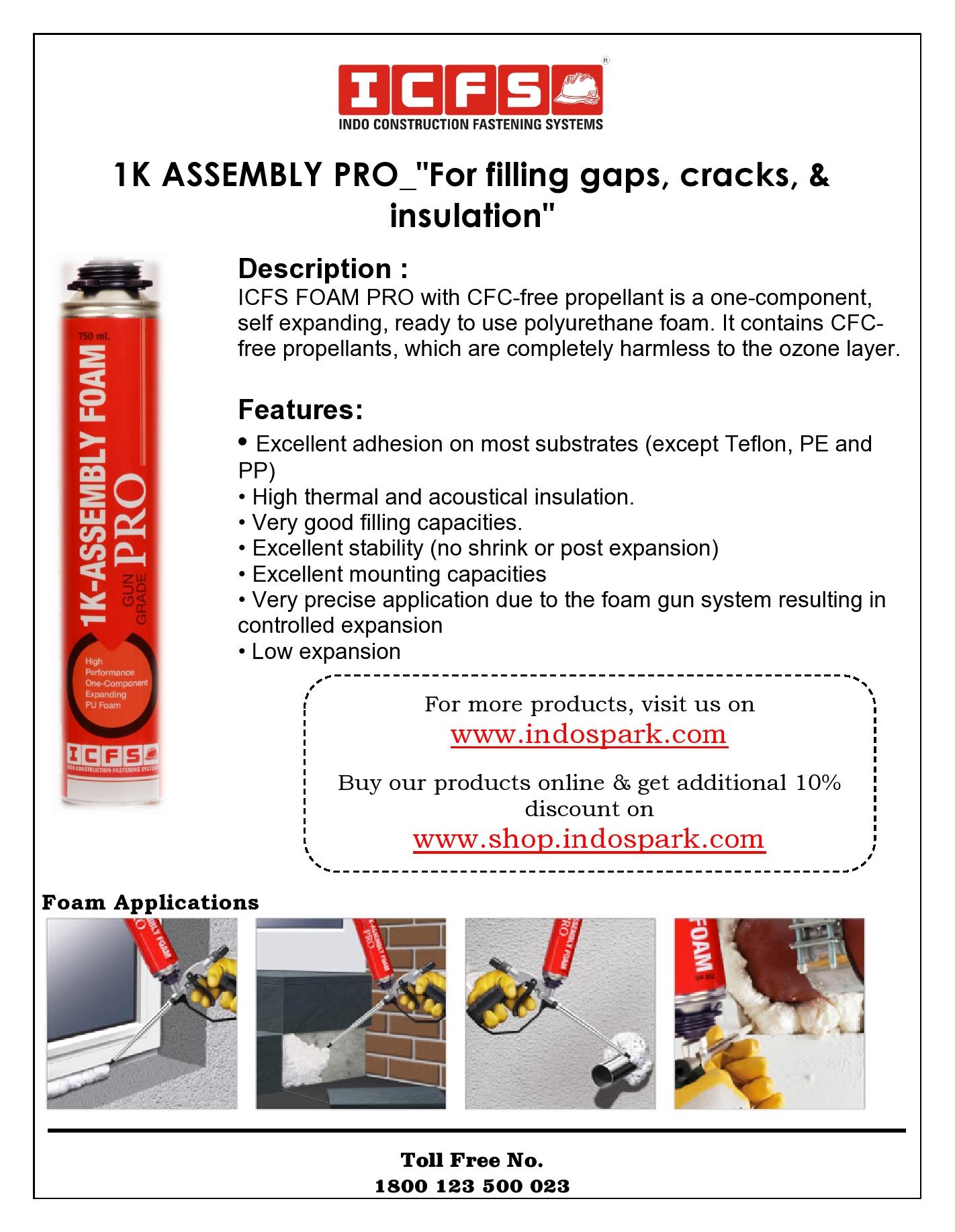 1K Assembly Foam PRO_Gun Grade