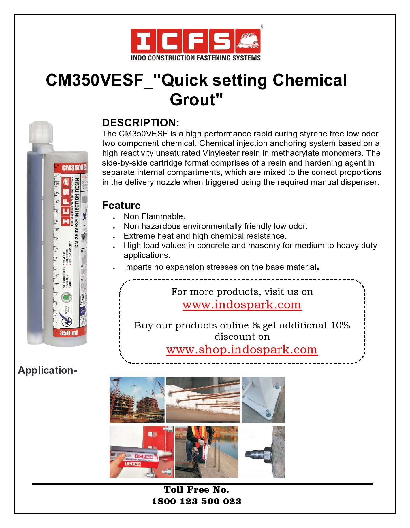 CM350VESF_Quick Setting Chemical Grout