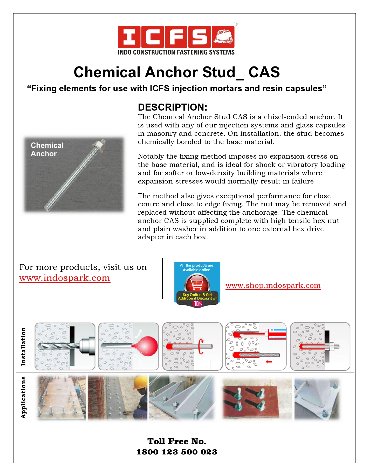 Chemical Anchor Stud_CAS