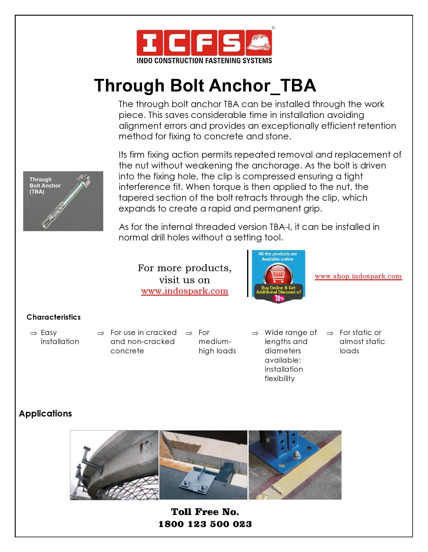 Through Bolt Anchor_TBA